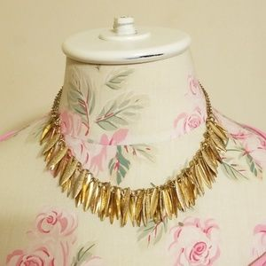 Vintage gold tone statement necklace